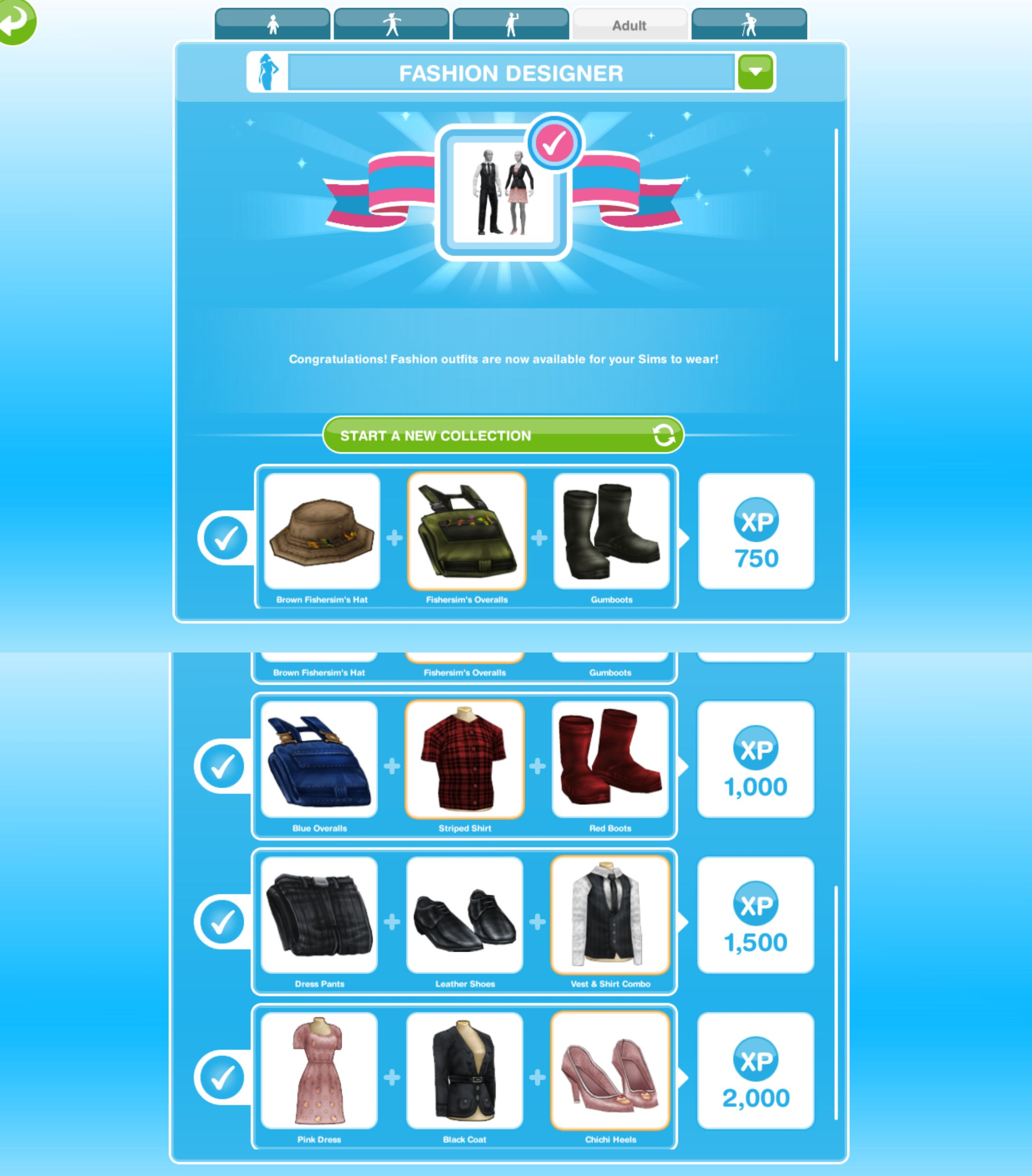 The Sims Freeplay- Hobbies: Fashion Designer – The Girl Who Games