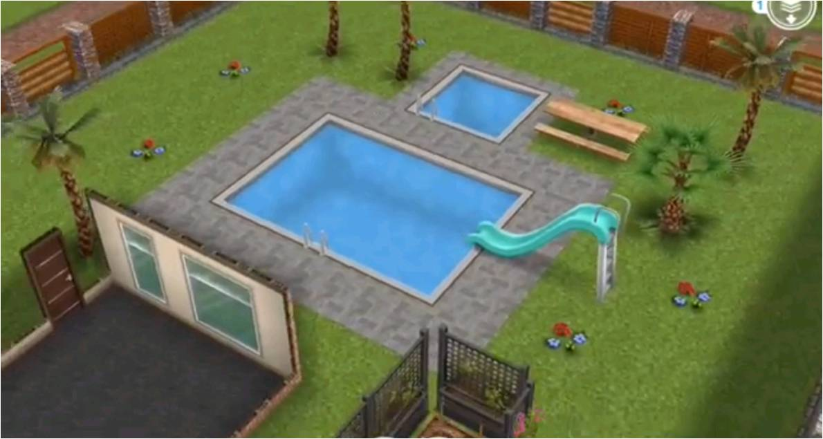 The sims freeplay house guide part three templates for Pool design sims 3