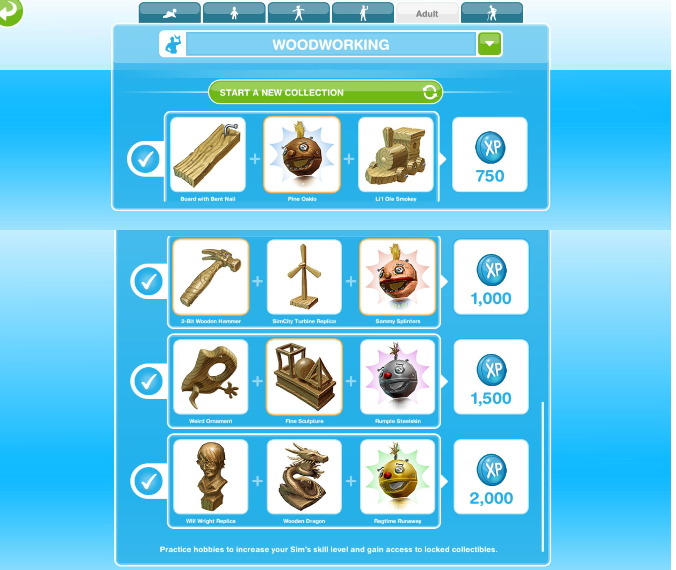 The Sims Freeplay Hobbies Woodworking The Girl Who Games
