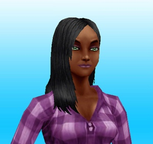 Hairstyles Quest Sims Freeplay : Long Back Parted Ponytail - I like the hairband in it but I don?t ...