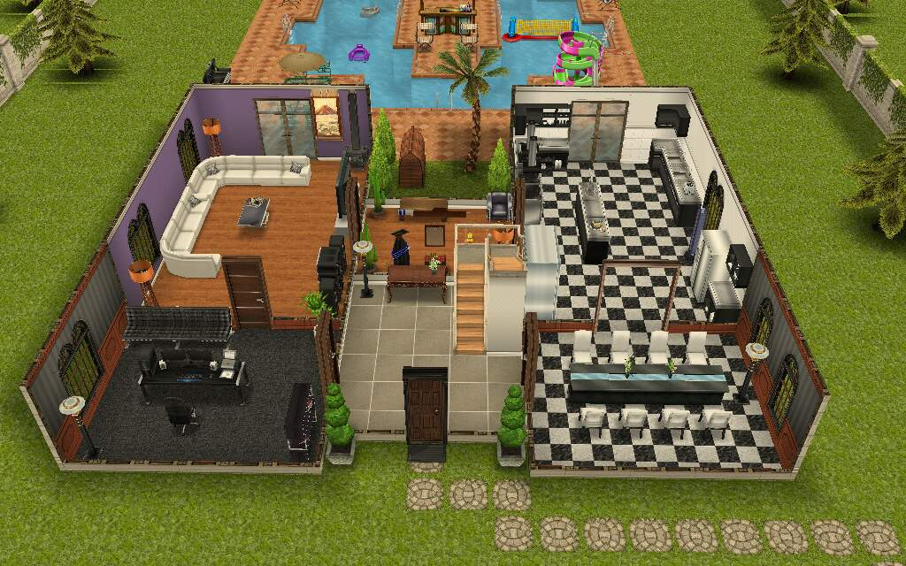 The Sims Freeplay Sim Sign And Teen Mansion The Girl