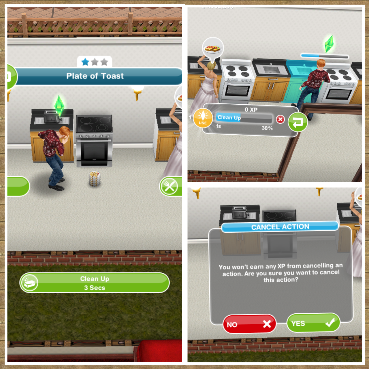 how to get all the cooking collection sims