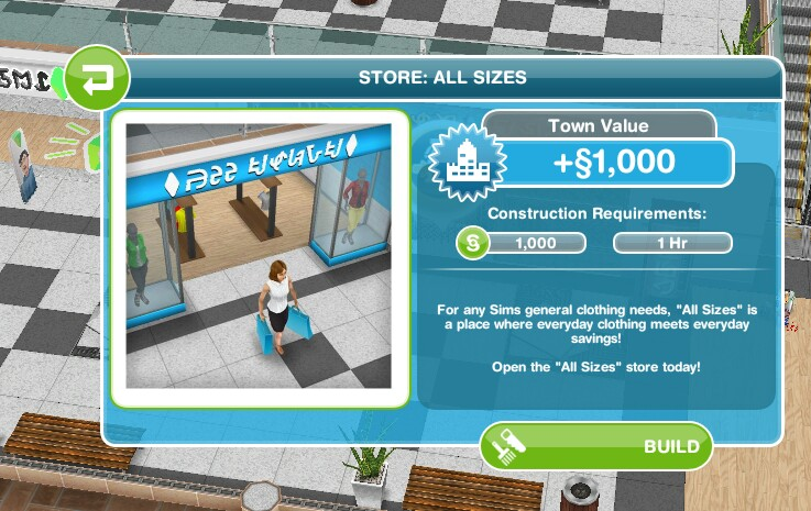 The Sims Freeplay- The Sunset Mall Quest – The Girl Who Games