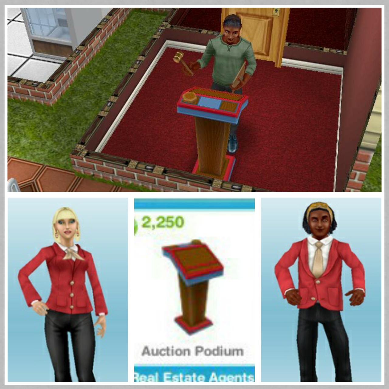 sims freeplay neighbors auction podium