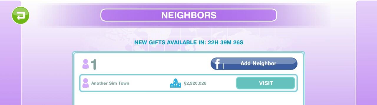 sims freeplay add neighbors