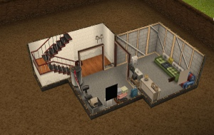 The Sims Freeplay DIY HOMES Basement Of Kings Quest The Girl - Diy basement