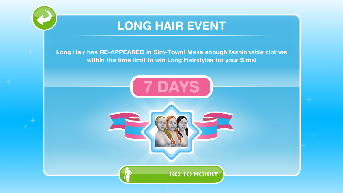 The Sims Freeplay Long Hair Event The Girl Who Games