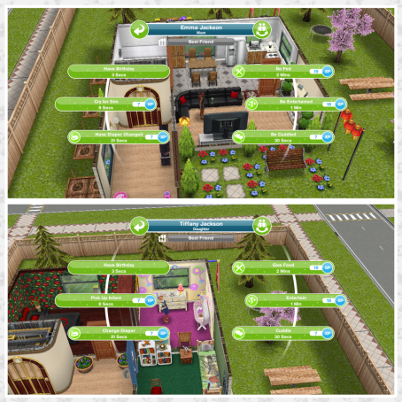 Have Birthday  This will turn the baby into a toddler  you have to bake a  birthday cake first and have completed the quest for toddlers. The Sims Freeplay  Guide to Babies   The Girl Who Games