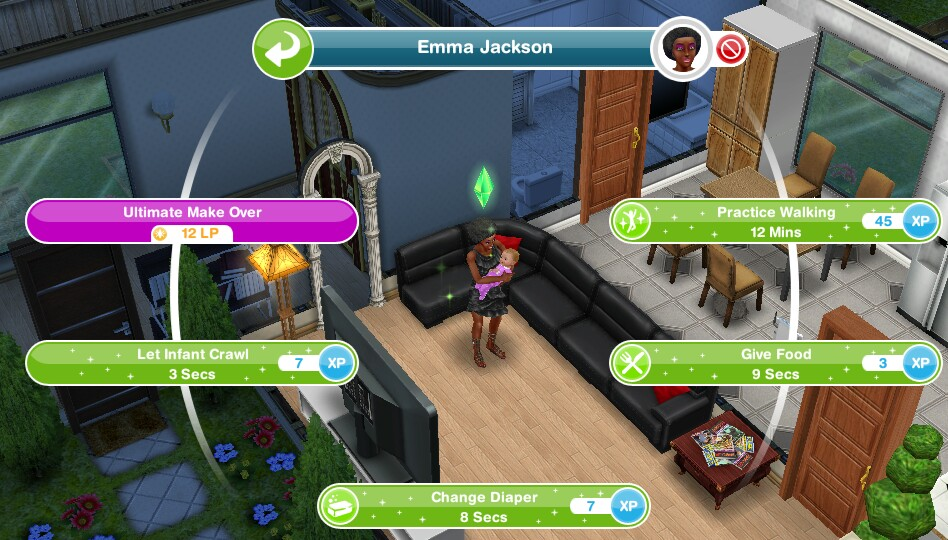 Points) Have a Sim with 10 best friends..