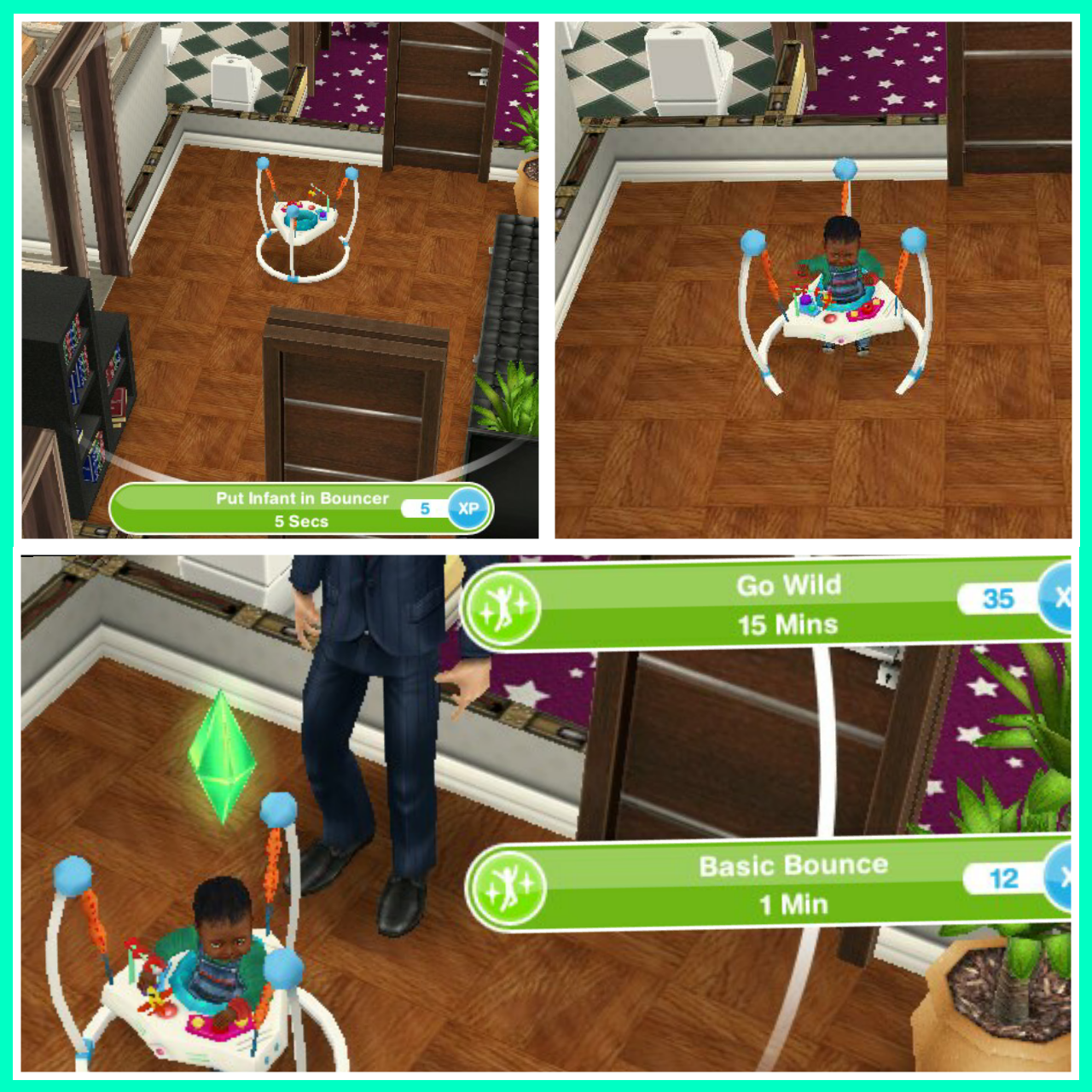 Babies the girl who games for Baby bathroom needs sims freeplay