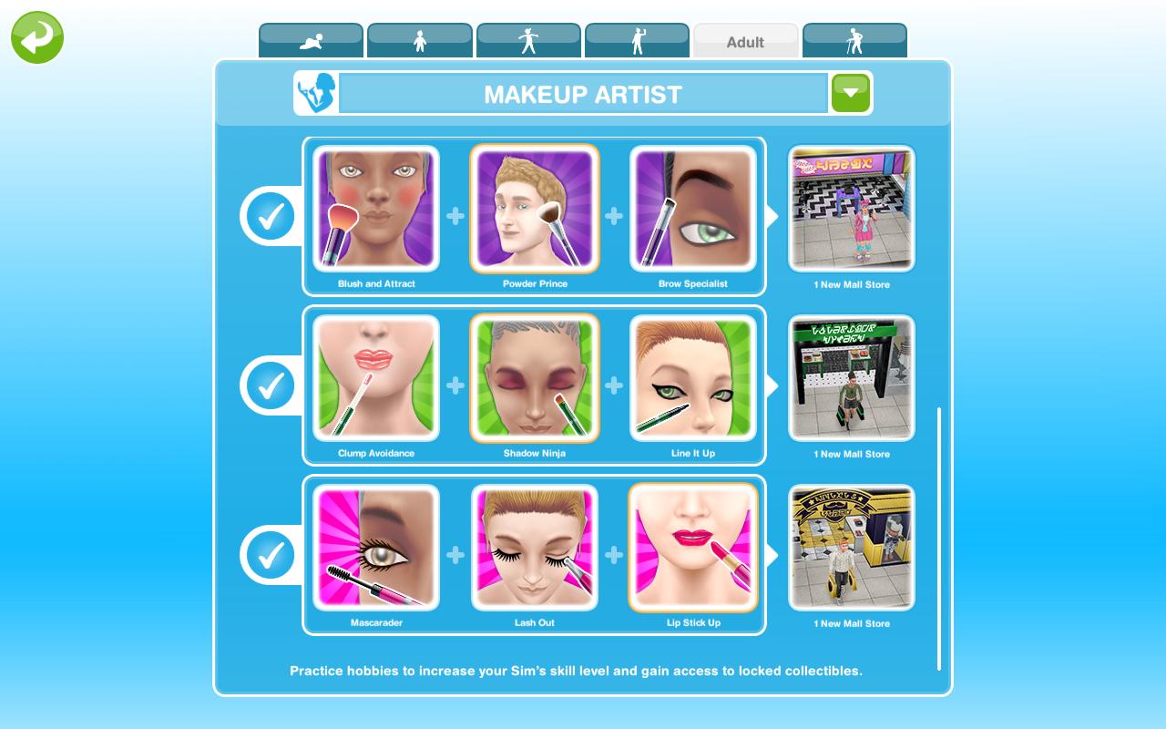 как быстро освоить хобби подиум в игре sims freeplay