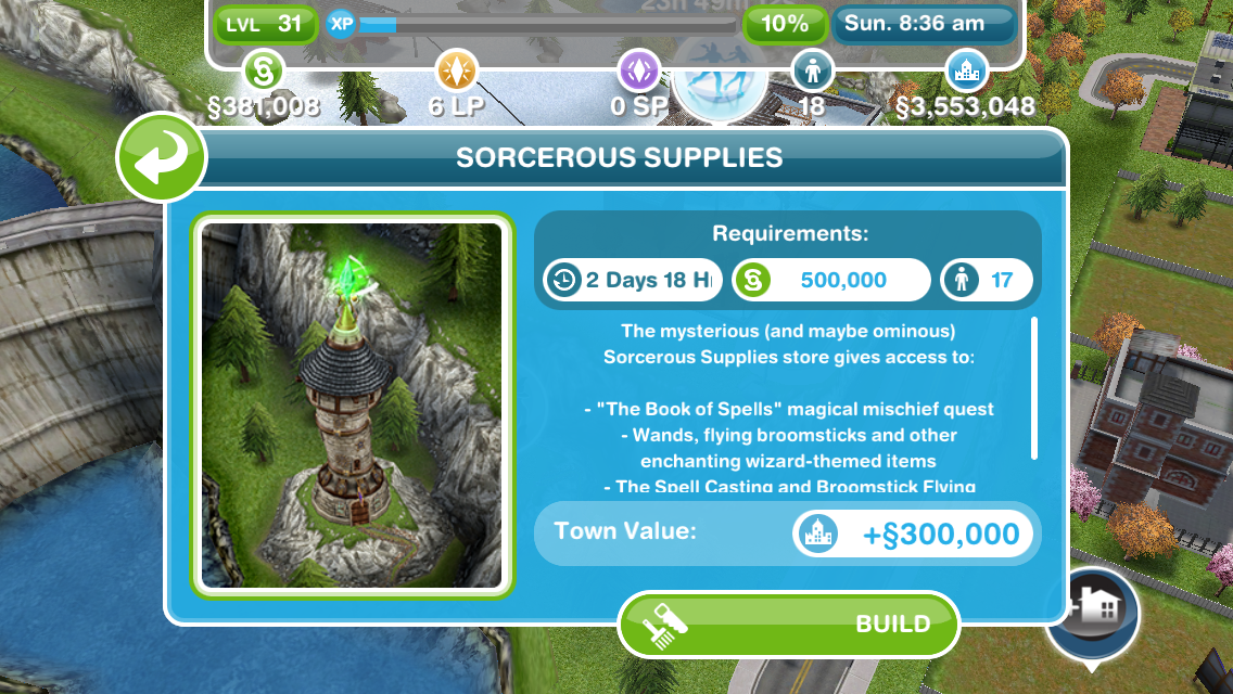 The Sims Freeplay- Book of Spells Quest – The Girl Who Games
