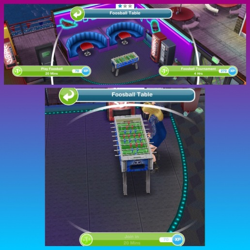 The Sims Freeplay The Arcade The Girl Who Games - Where to buy foosball table