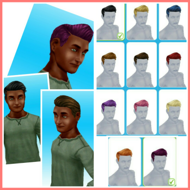 Hairstyles Quest Sims Freeplay : 2nd Set- hat hairstyles can be found in the hat section of the ...