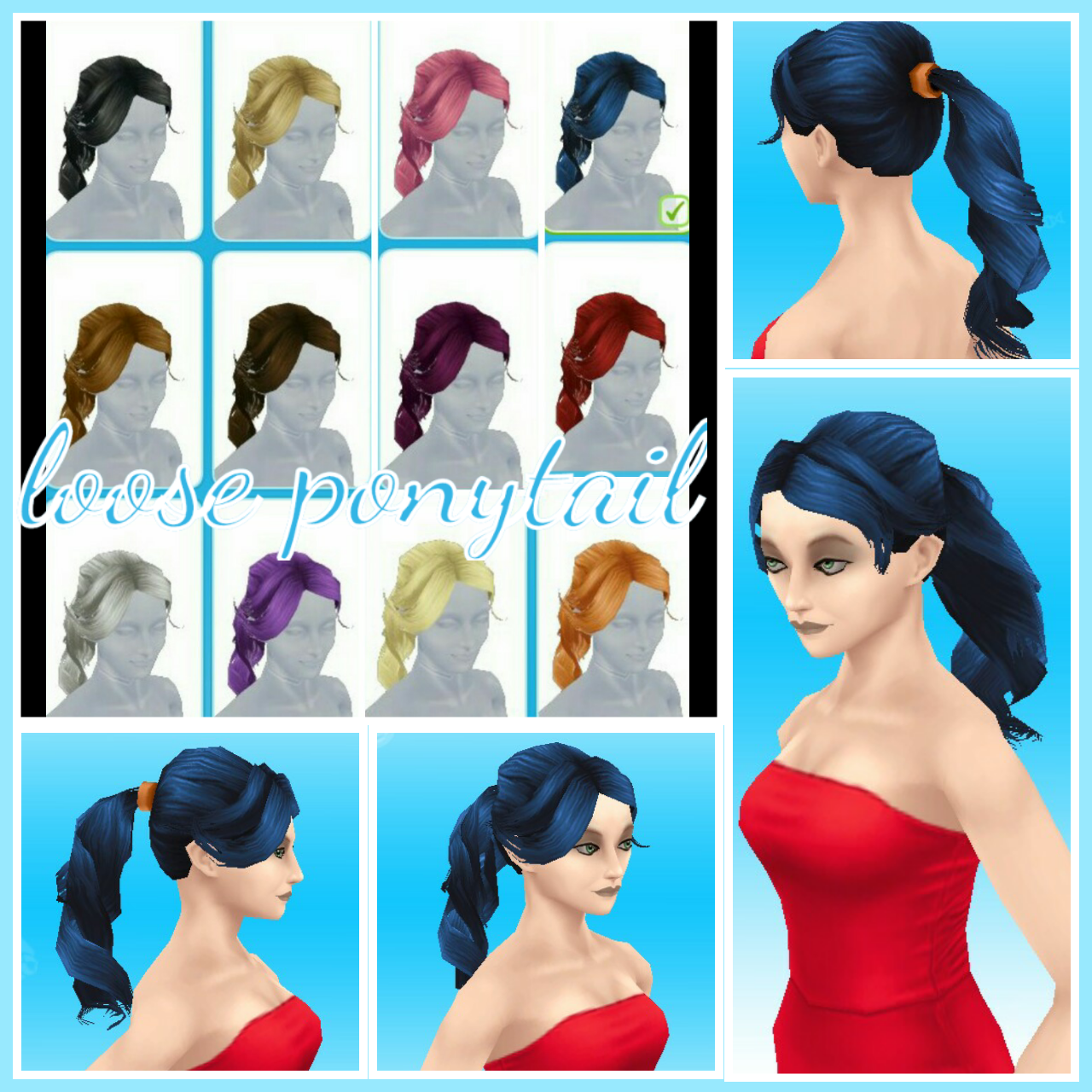 The sims freeplay long hairstyle - Image