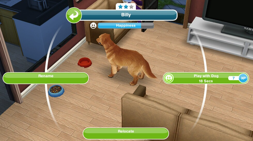 Sims Freeplay Dog In The House