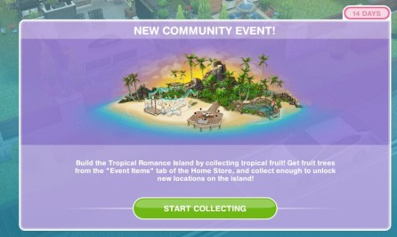 Sims Freeplay Tropical Romance Island