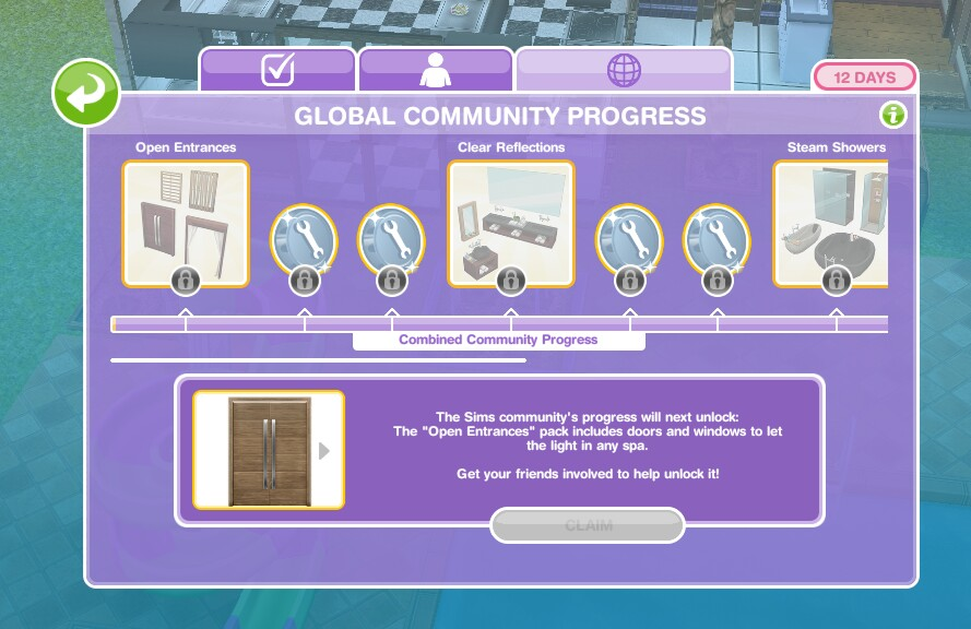 The Sims Freeplay- Sim Town Health Spa Community Event – The