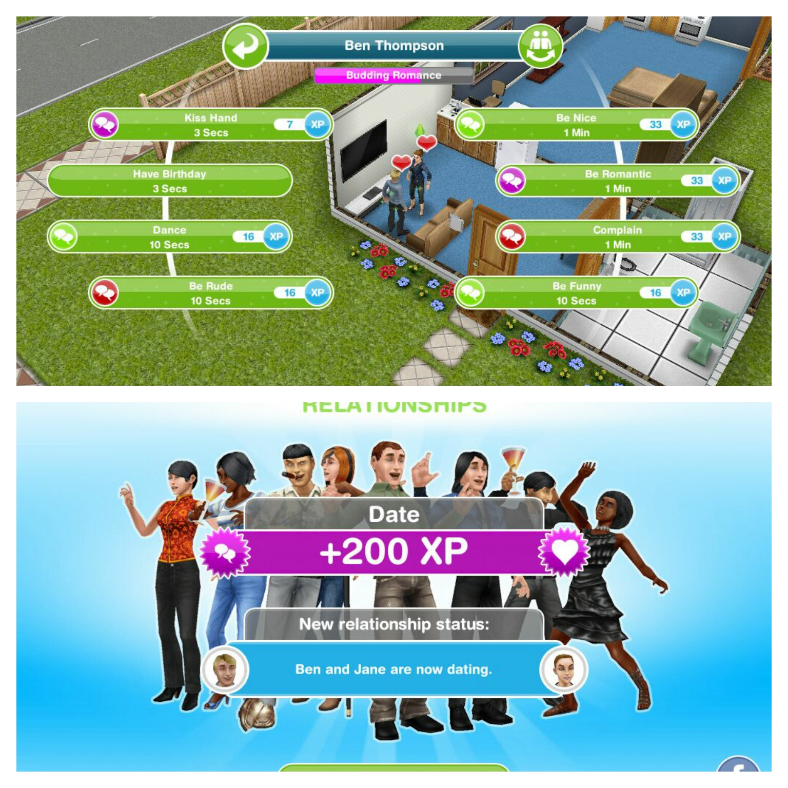 build 2 dating relationships sims freeplay Sims freeplay iphone relationship try making 2 new sims then get them to start dating - these tasks can be done with any sim not the couple you are working on.