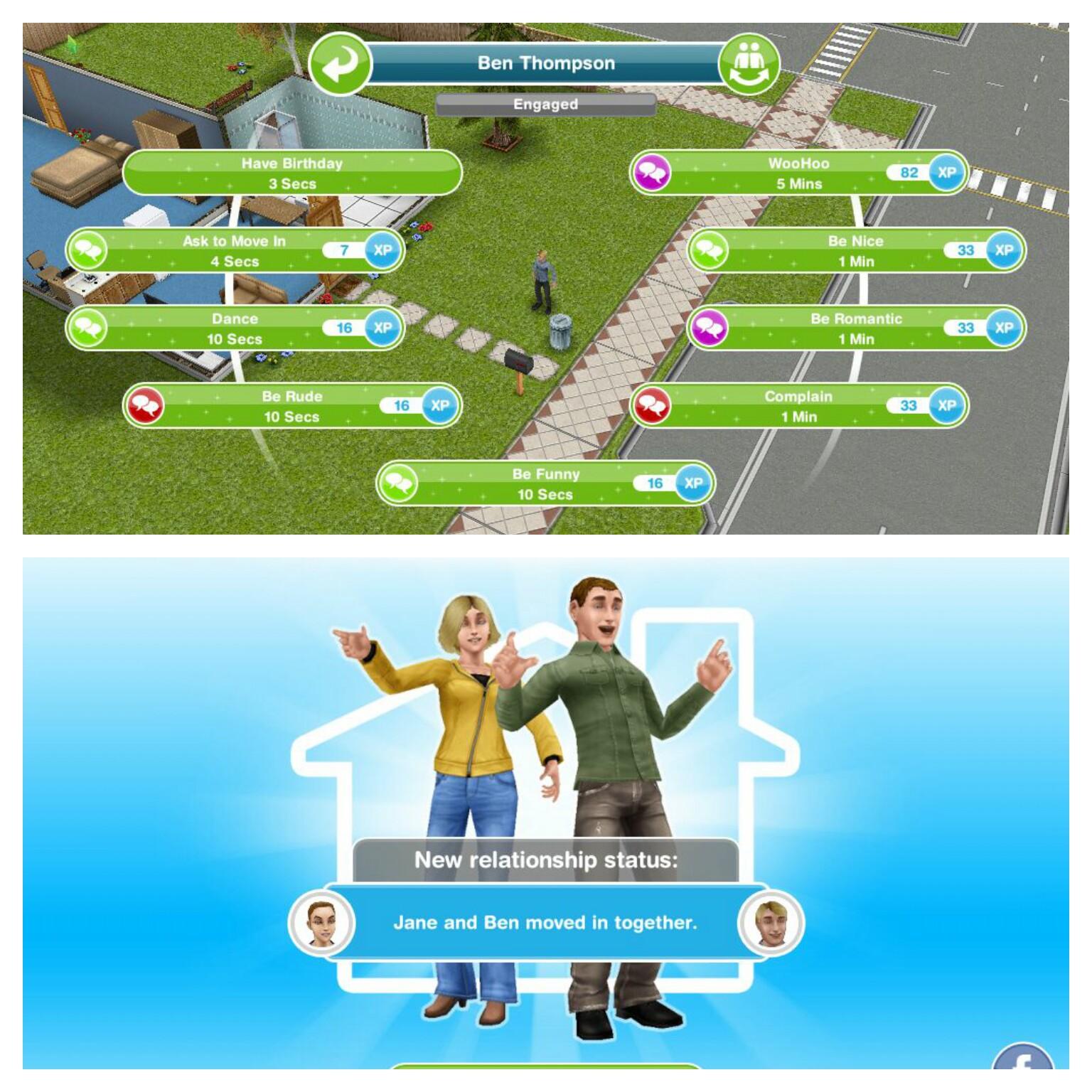 Sims freeplay graditi 2 dating odnose görevi