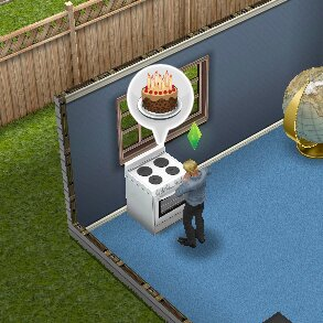 Baking Birthday Cake Sims Freeplay