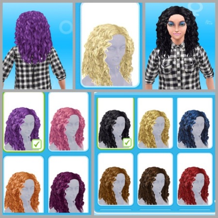 The Sims Freeplay Mean Curls Hairstyles Review The Girl Who Games