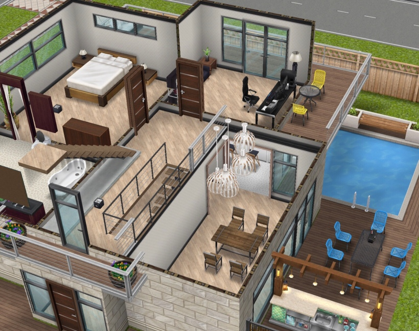 The Sims Freeplay- Adding Mezzanine Floors (Indoor Balconies!) | The ...