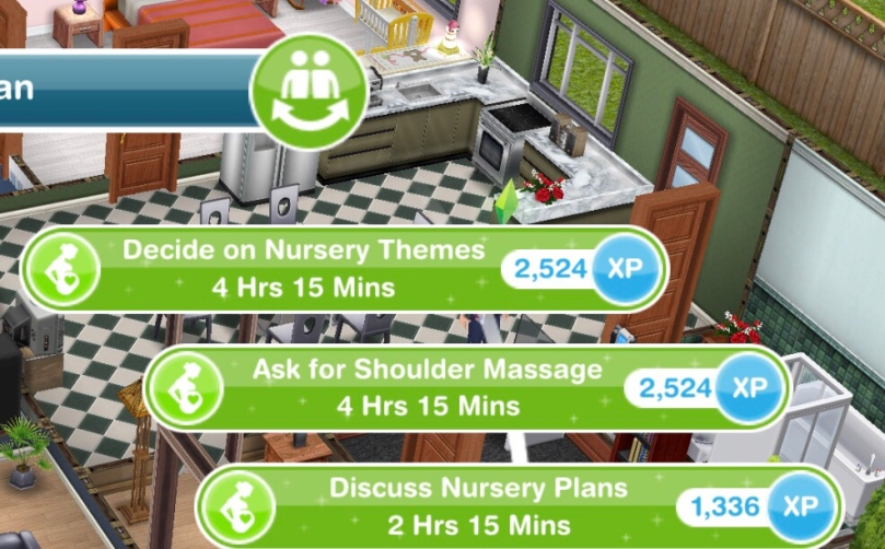 The Sims Freeplay Pregnancy Event Daily Goals And Support Tasks List The Girl Who Games