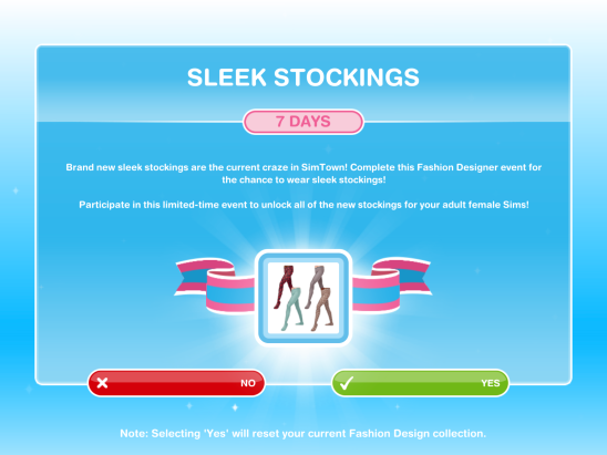The Sims Freeplay Sleek Stockings Event The Girl Who Games
