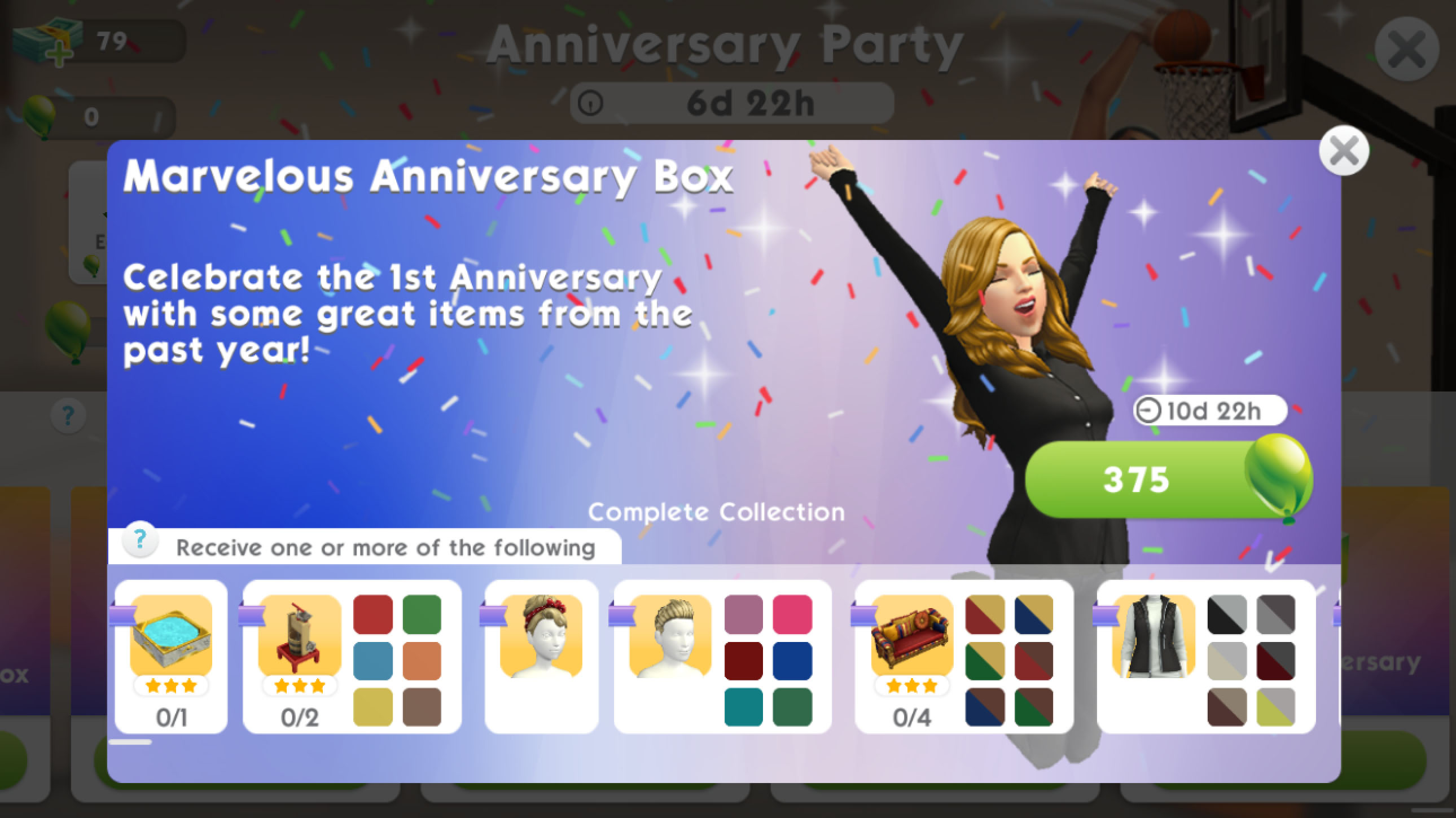The Sims Mobile- Anniversary Party Quest & Event – The Girl