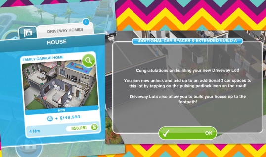 The Sims Freeplay- Adding Cars to House Lots & Driveway