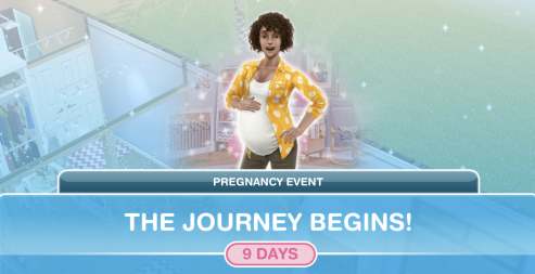 The Sims Freeplay- Completing a Pregnancy Event [TIPS & MY