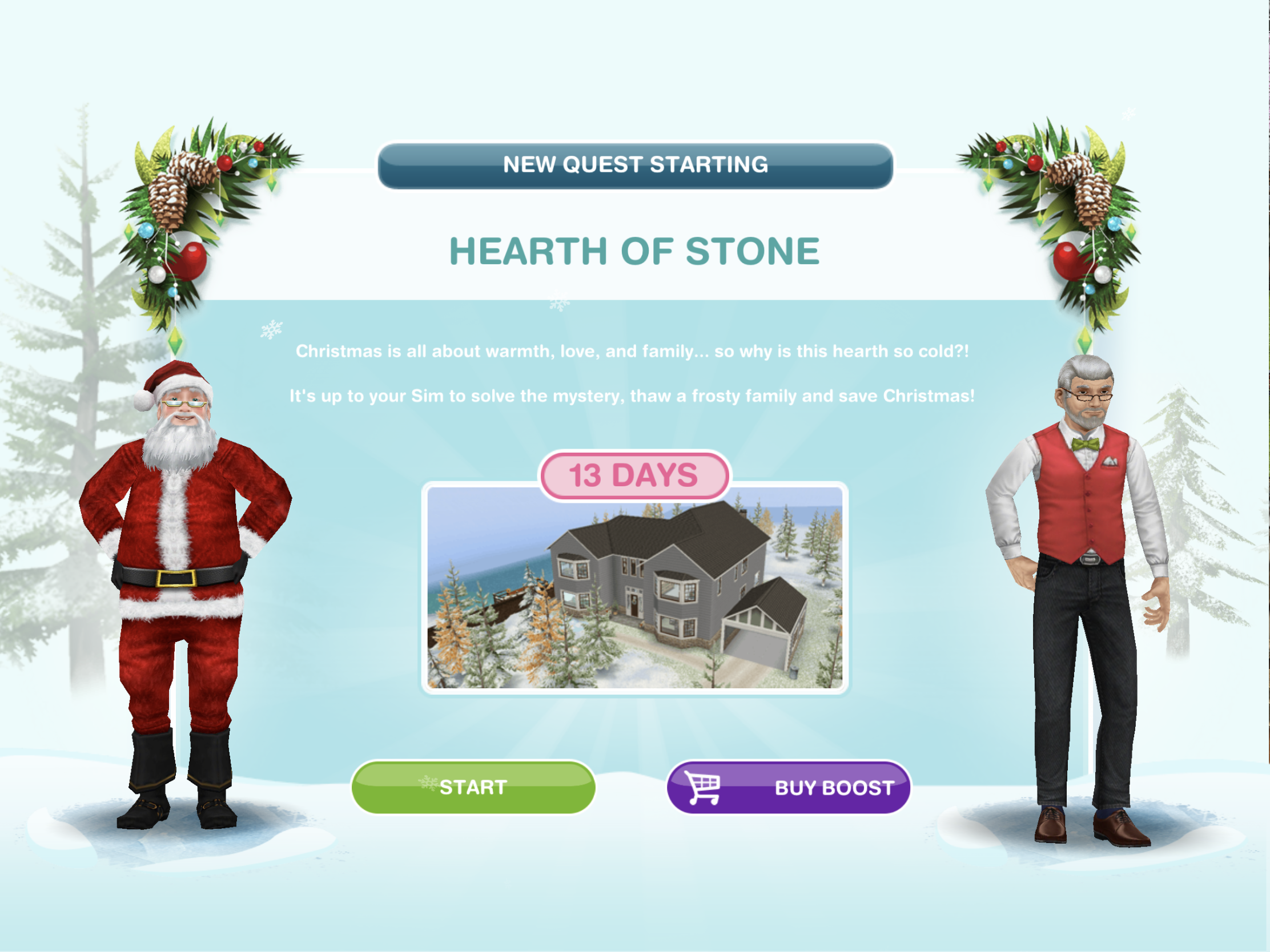 Sims Freeplay Christmas 2020 The Sims Freeplay  Hearth of Stone Christmas 2019 Quest – The Girl